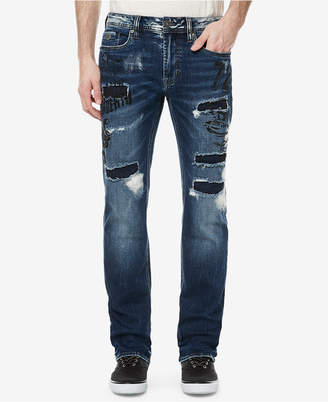 Buffalo David Bitton Men's Evan-x Slim-Straight Fit Ripped Jeans