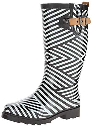 Chooka Women's Ziggy Stripe Rain Boot