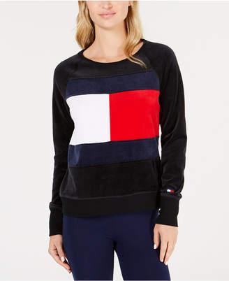 Tommy Hilfiger Logo Velour Sweatshirt