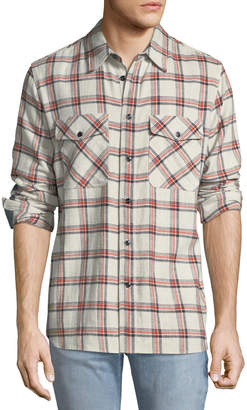 Rag & Bone Men's Jack Plaid Shirt with Elbow Patches