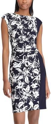 Chaps Women's Floral Colorblock Sheath Dress