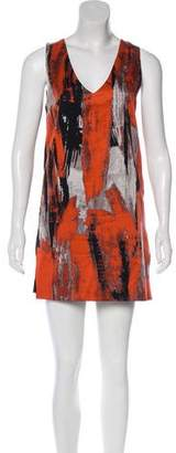 Robert Rodriguez Abstract Print Mini Dress