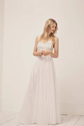 French Connection Genoa Embroidered Maxi Wedding Dress
