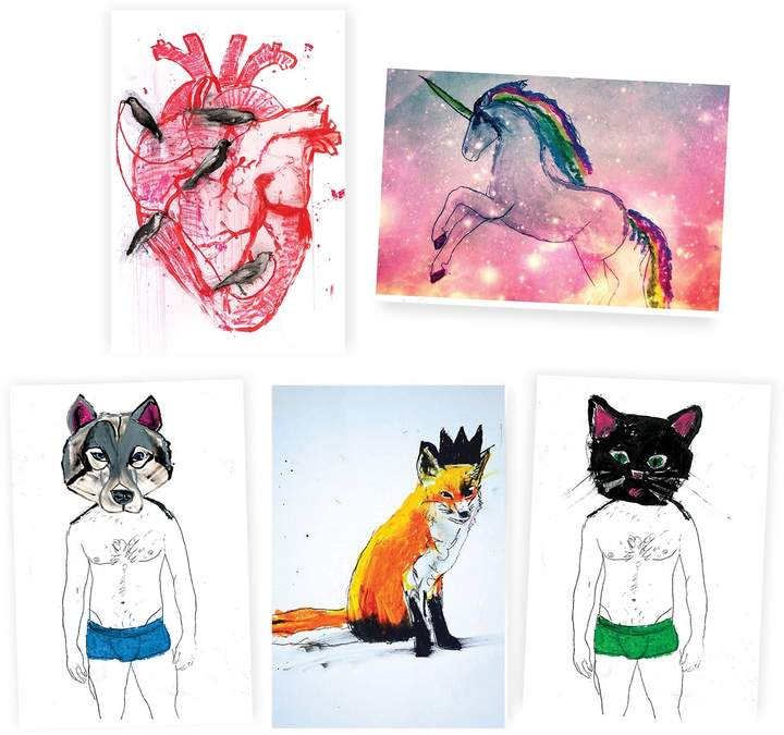 Michael Gurhy - Set of 5 Assorted Illustrated Greeting Cards