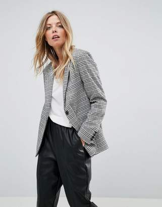 Asos Tailored Clean Mansy Blazer In Check