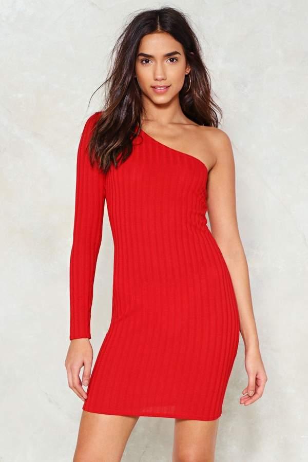 nastygal One Chance Ribbed Dress