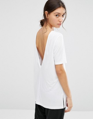 ASOS V Back T-Shirt With Short Sleeve $22 thestylecure.com