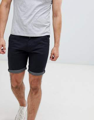 Brave Soul contrast turn up chino shorts