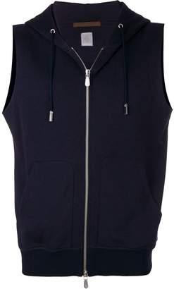 Eleventy sleeveless zipped hoodie