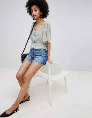 Miss Selfridge Mom Denim Shorts