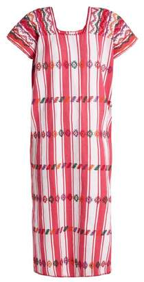 Pippa Holt - No.57 Embroidered Cotton Kaftan - Womens - Pink Multi