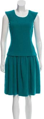 Oscar de la Renta Sleeveless Wool Dress w/ Tags