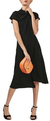 Topshop Origami Drape Neck Midi Dress $110 thestylecure.com