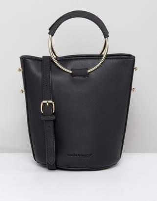 Melie Bianco Vegan Leather Shoulder Bag With Metal Hardware
