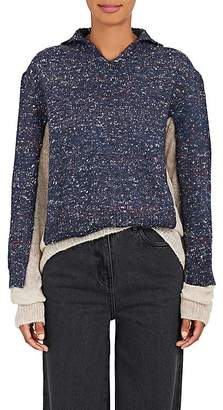 Maison Margiela Women's Layered Mixed-Knit Wool-Blend Sweater