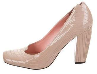 United Nude Patent Leather Semi Pointed-Toe Pumps