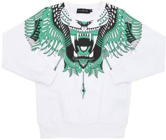 John Richmond Tiger Print Cotton Sweatshirt