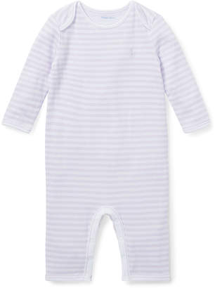 Ralph Lauren Stripe Coverall w/ Envelop Shoulders, Size 3-9 Months