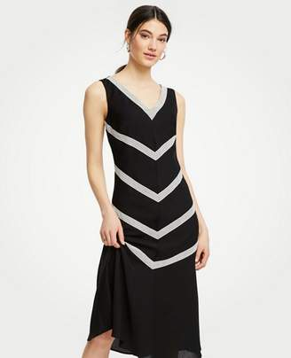 Ann Taylor Lace Inset Midi Dress