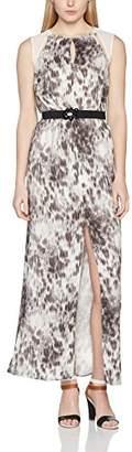 GUESS Women's Round Sleeveless Dress White White/Charcoal Grey X-Small