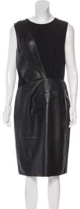 J. Mendel Leather Sheath Dress Black Leather Sheath Dress