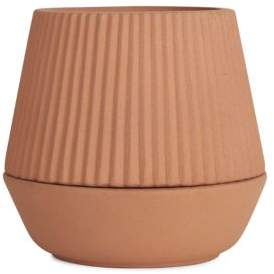 Umbra Pleated Earthenware Planter