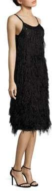 Alberta Ferretti Women's Sleeveless Feathered Dress - Black - Size 40 (4)