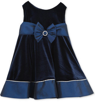 Rare Editions Baby Girls' Navy Velvet Party Dress $60 thestylecure.com