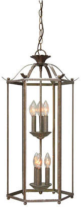 Volume Lighting 6-Light Candle-Style Hanging Cage Mini Chandelier Pendant