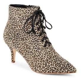 Isa Tapia Leather Lace-Up Ankle Boots