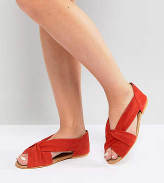 Asos Design JANEL Wide Fit Suede Summer Shoes