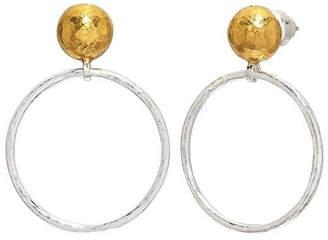 Gurhan Hoopla Sterling/24k Earring