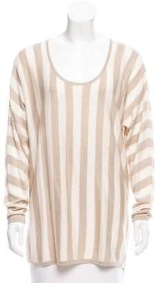 Max Mara Striped Scoop Neck Sweater