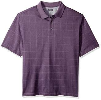Van Heusen Men's Size Big and Tall Printed Windowpane Polo Shirt