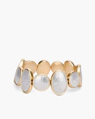 Reversible Mixed-Metal Sparkle Stretch Bracelet