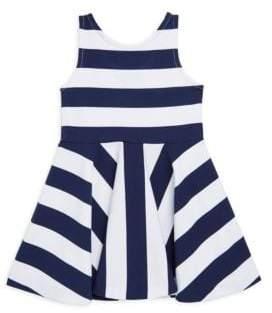 Ralph Lauren Little Girl's& Girl's Striped Ponte Sleeveless Dress