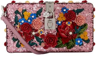 Dolce & Gabbana Embellished Shoulder Box Clutch