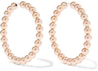 Saskia Diez Liquid Hoops No1 18-karat Gold-plated Earrings