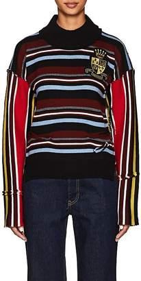 J.W.Anderson Women's Deconstructed Striped Wool Sweater