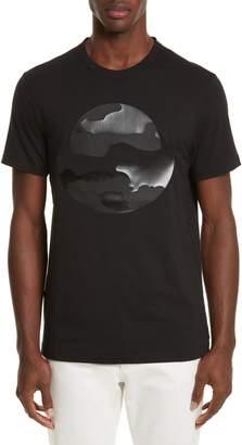 Moncler Black Silhouette Graphic T-Shirt