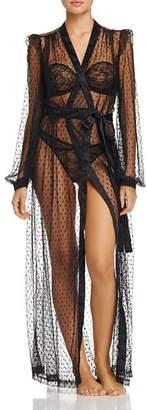 Dita Von Teese Lamarr Sheer Dot Long Robe