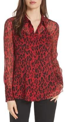 Diane von Furstenberg Crinkle Silk Chiffon Shirt