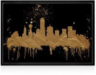 """Oliver Gal Dallas Skyline Wall Art, 15"""" x 10"""""""