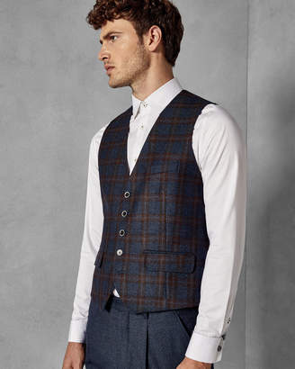 Ted Baker BELUSHW Wool checked waistcoat