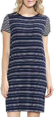 Vince Camuto Mixed-Stripe T-Shirt Dress