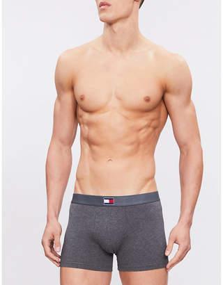 Tommy Hilfiger Logo-detail slim-fit stretch-cotton trunks