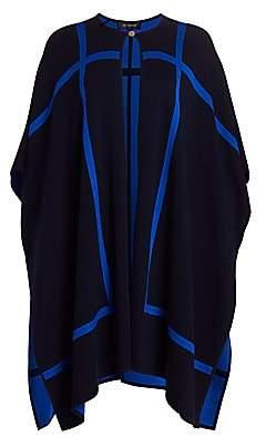 St. John Women's Reversible Wool-Blend Graphic Knit Cape Jacket