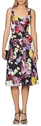 Dolce & Gabbana Women's Floral-Print Cotton-Blend Dress