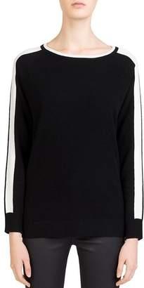 Gerard Darel Clarisse Sleeve-Stripe Sweater