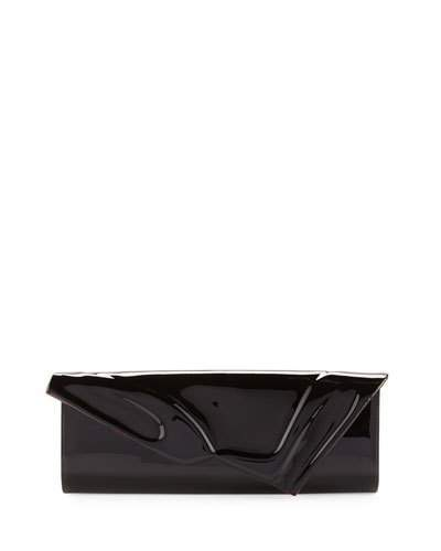 Christian Louboutin  Christian Louboutin So Kate Patent East-West Clutch Bag, Black